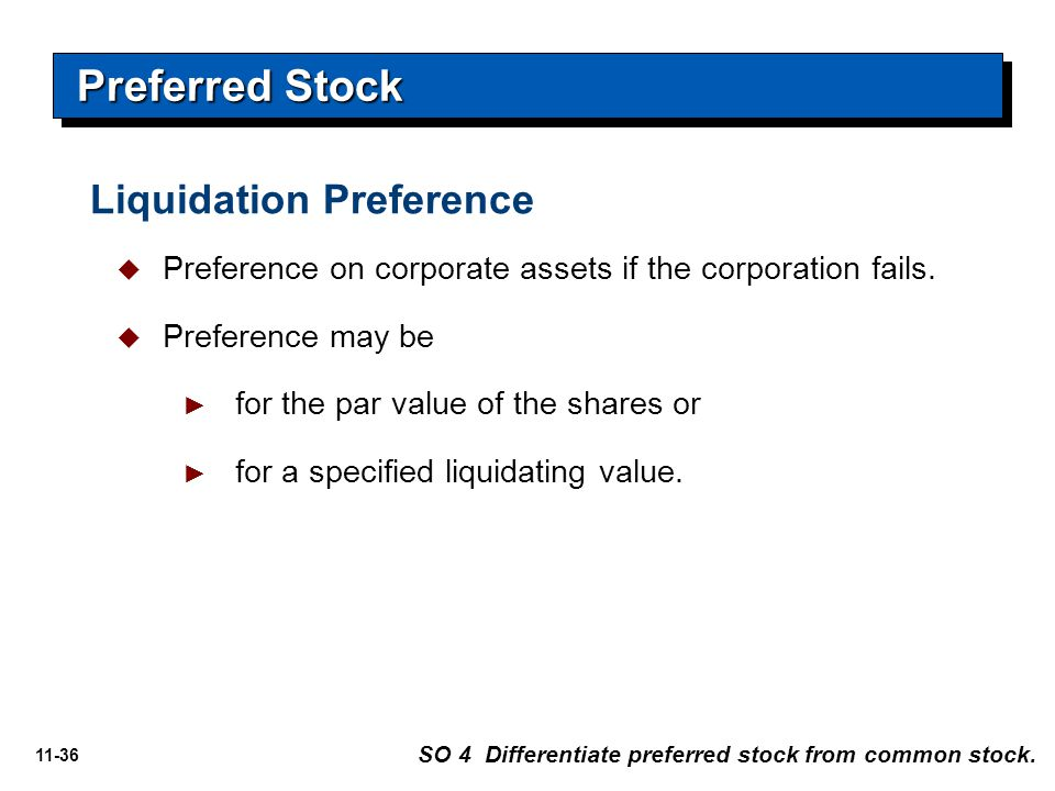 Preferred Stock Liquidation Preference