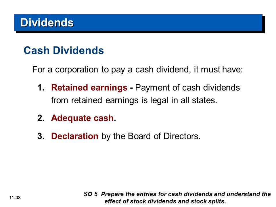 Dividends Cash Dividends