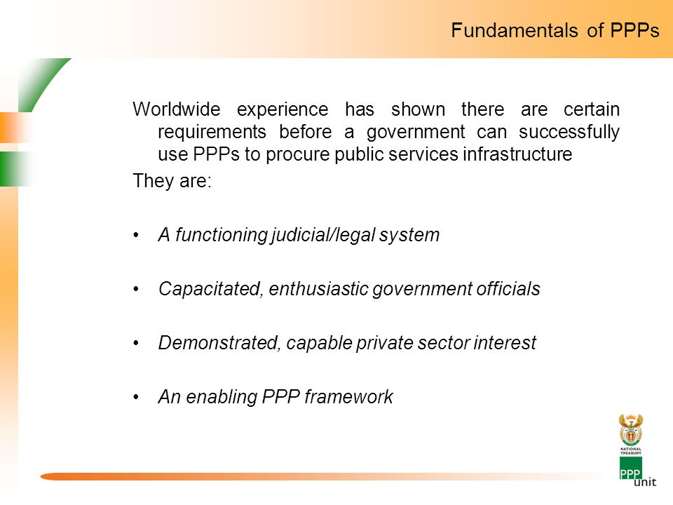 Fundamentals of PPPs