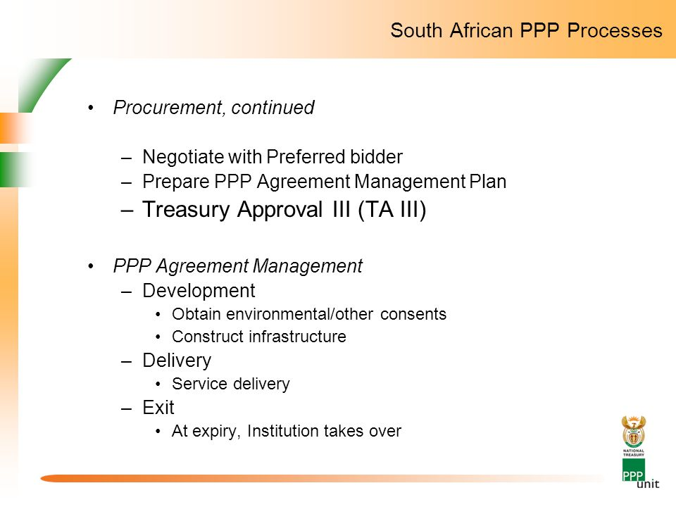 South African PPP Processes