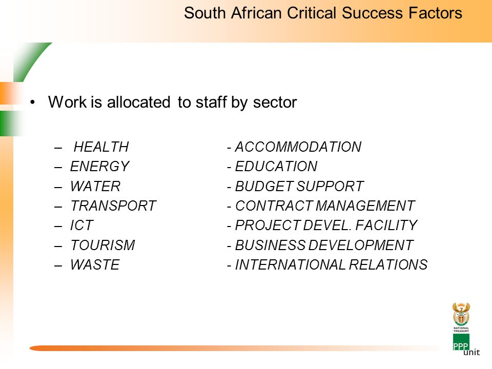 South African Critical Success Factors