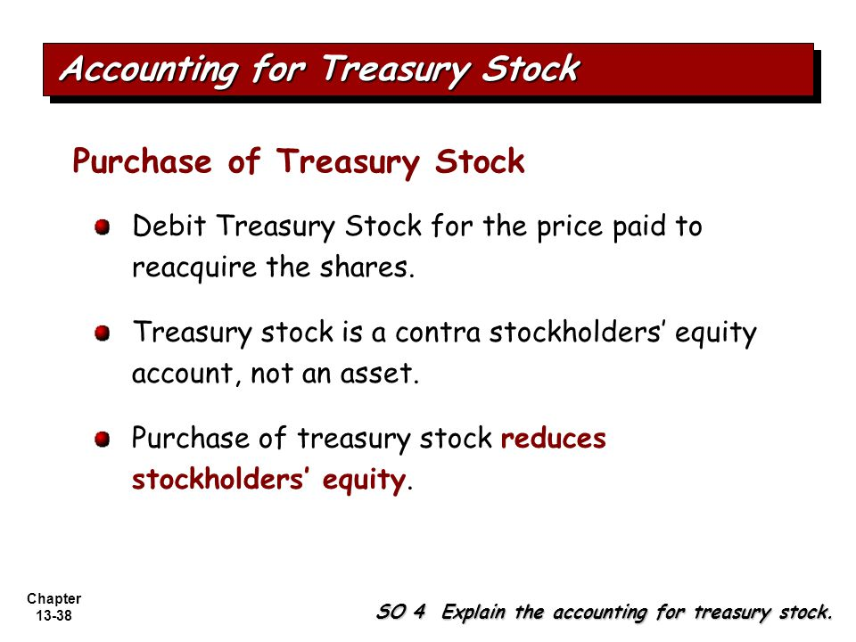 Accounting for Treasury Stock