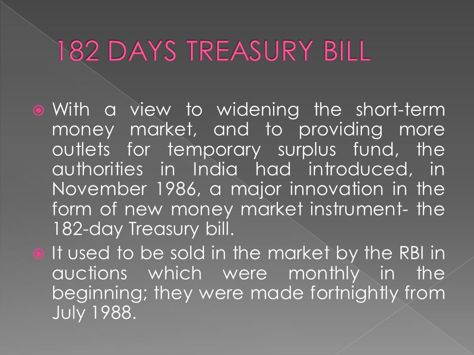 182 DAYS TREASURY BILL