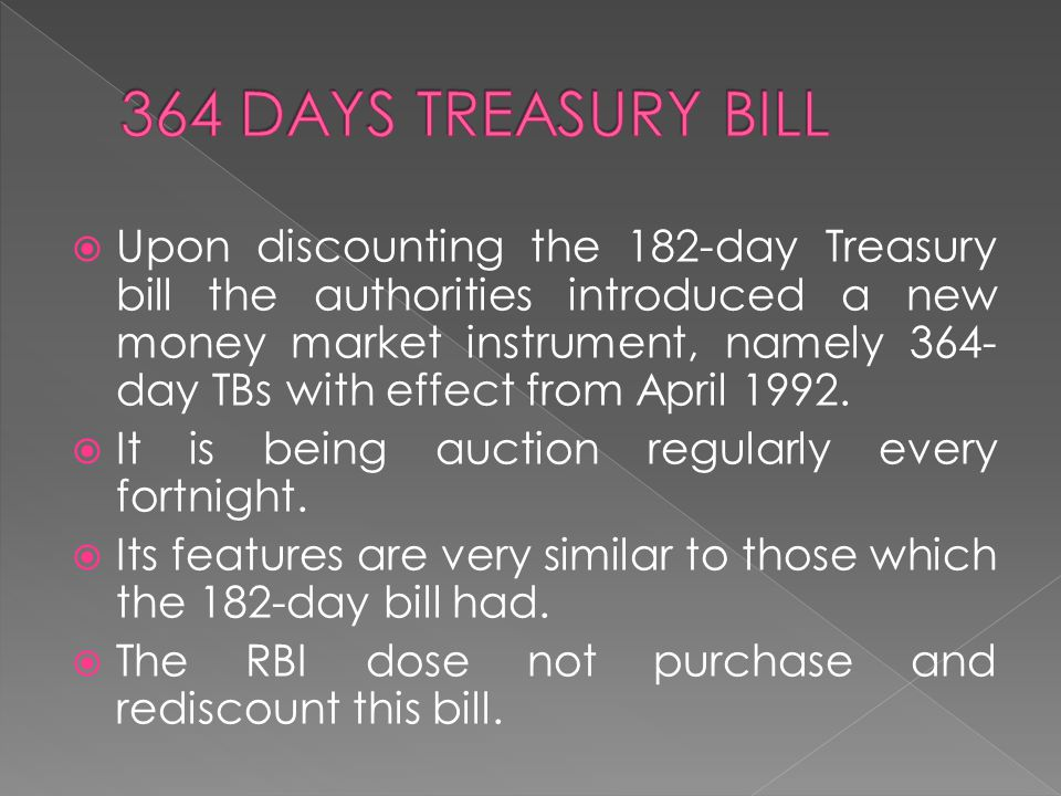 364 DAYS TREASURY BILL