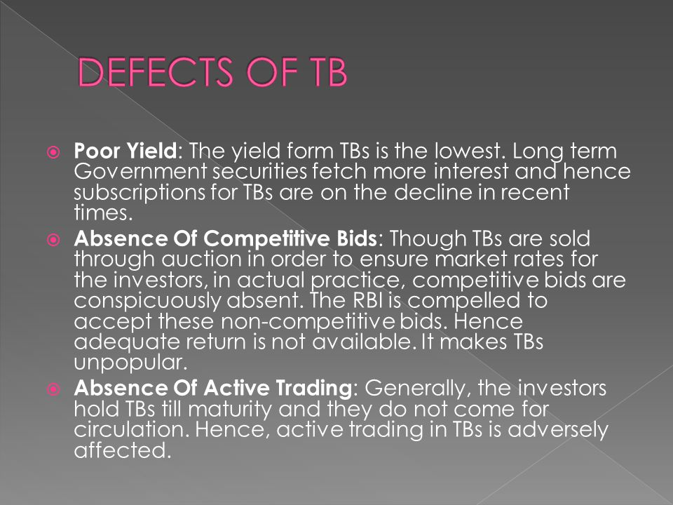 DEFECTS OF TB
