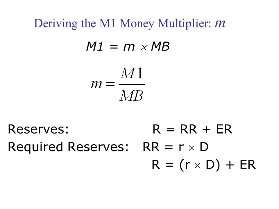 Deriving the M1 Money Multiplier: m