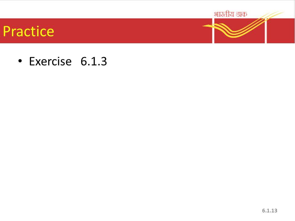 Practice Exercise 6.1.3
