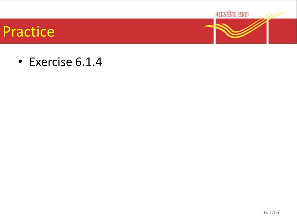 Practice Exercise 6.1.4