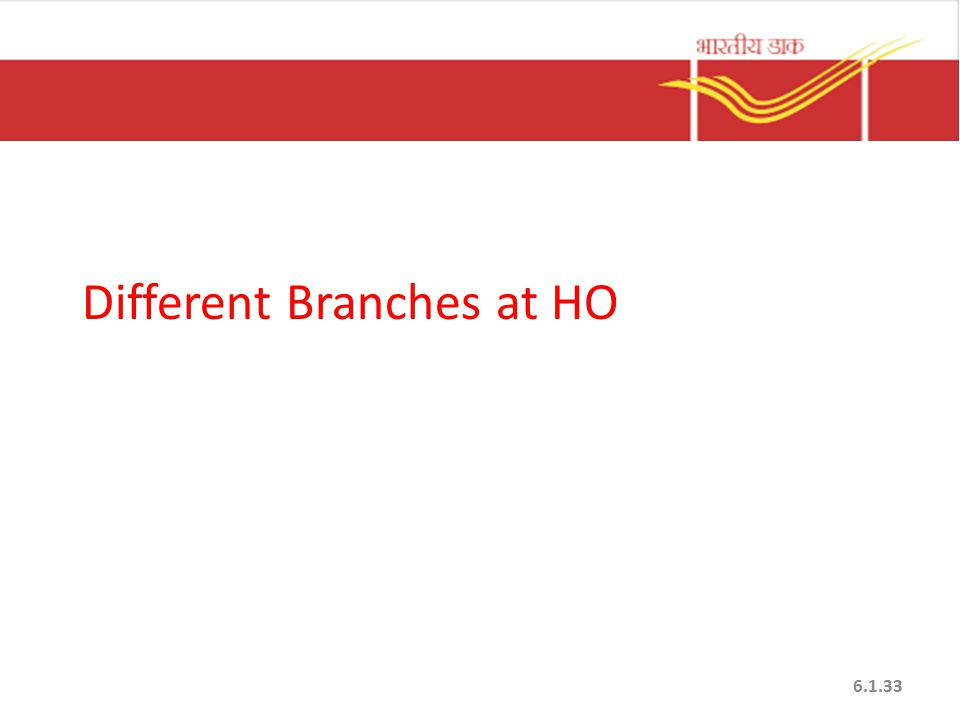 Different Branches at HO