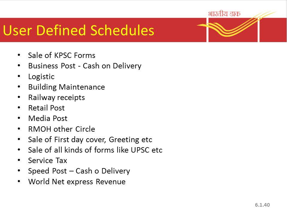 User Defined Schedules