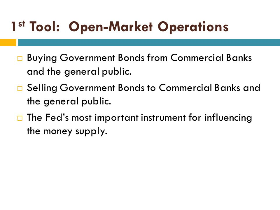 1st Tool: Open-Market Operations