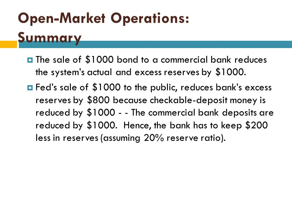 Open-Market Operations: Summary