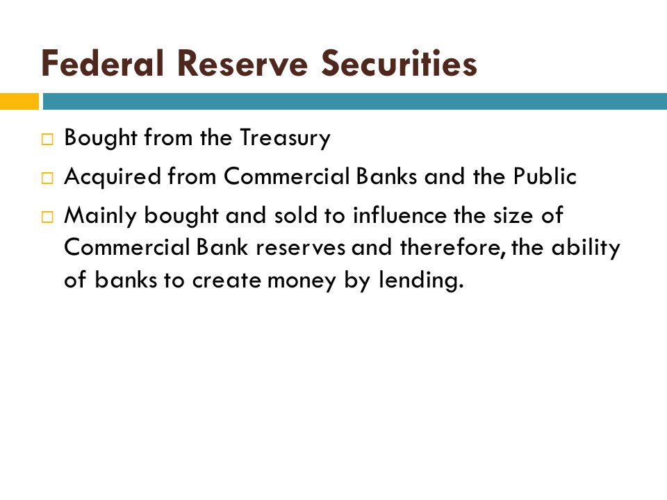 Federal Reserve Securities