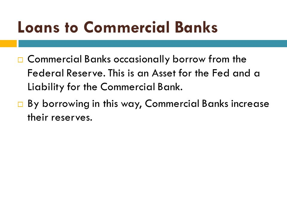 Loans to Commercial Banks