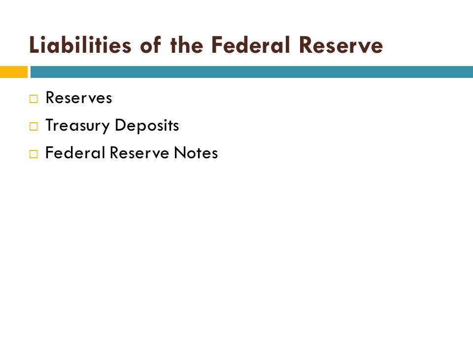 Liabilities of the Federal Reserve