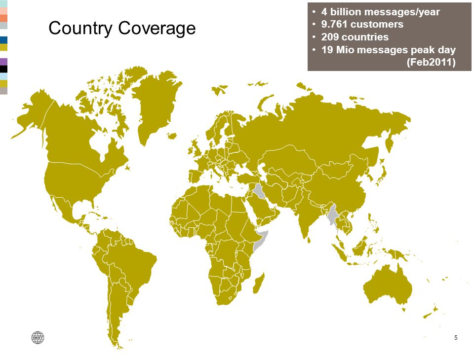 Country Coverage 4 billion messages/year 9.761 customers 209 countries
