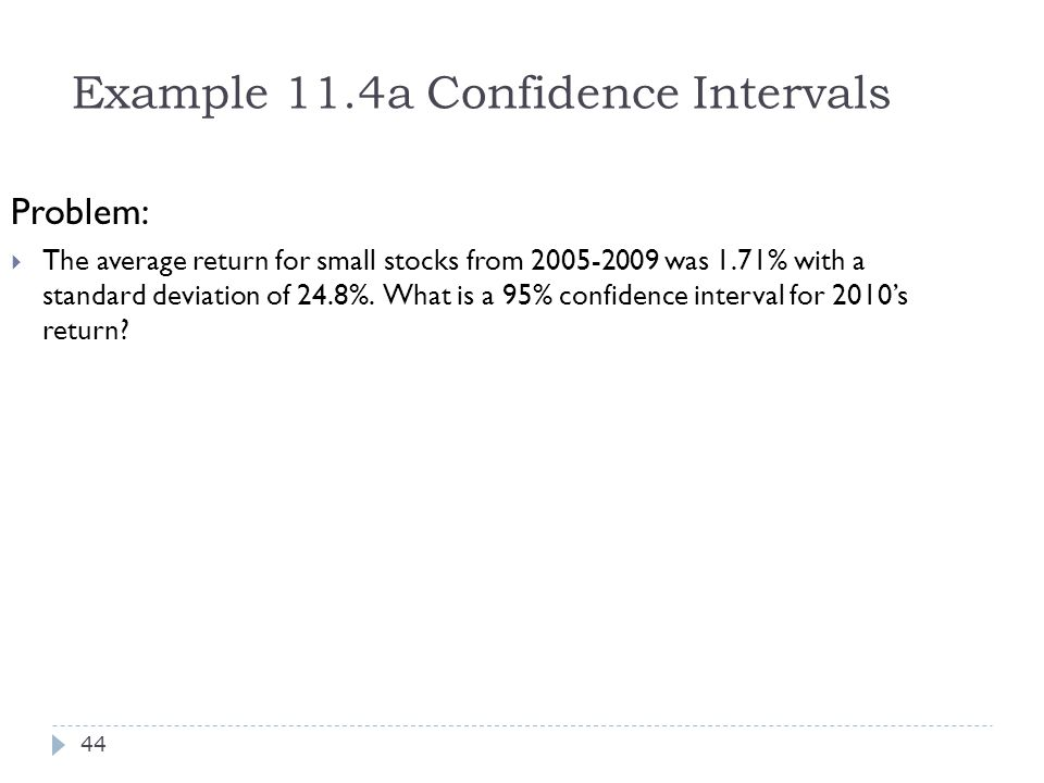 Example 11.4a Confidence Intervals