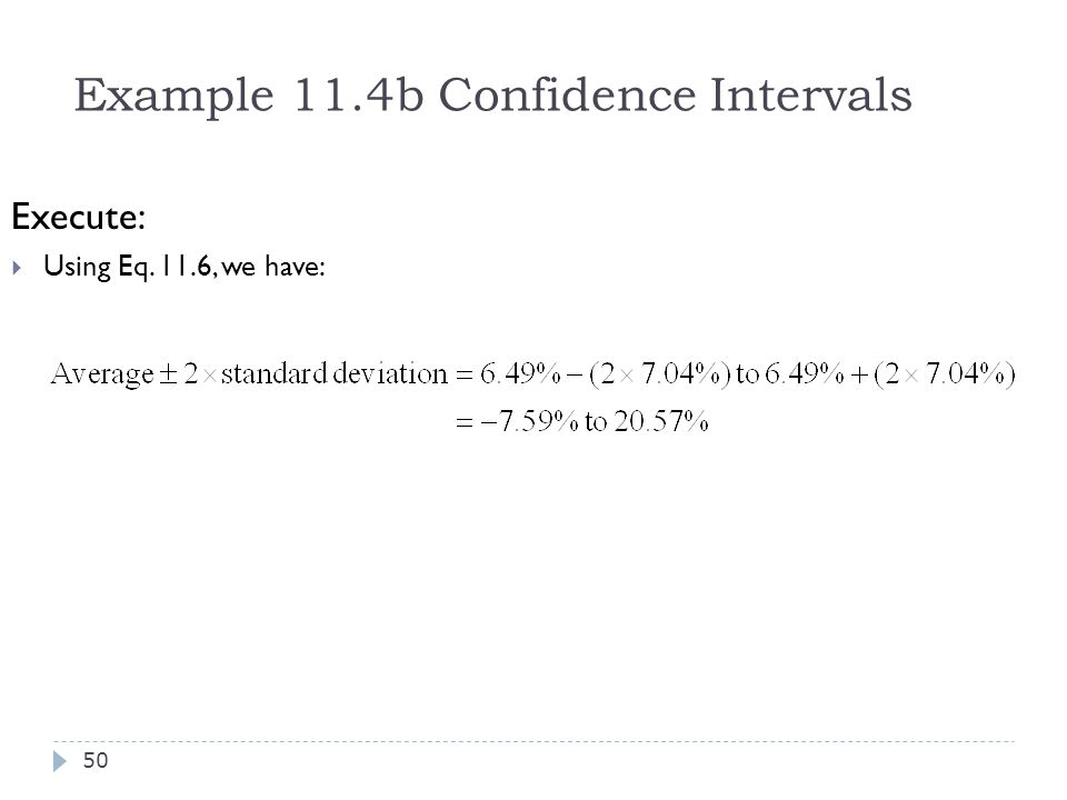 Example 11.4b Confidence Intervals