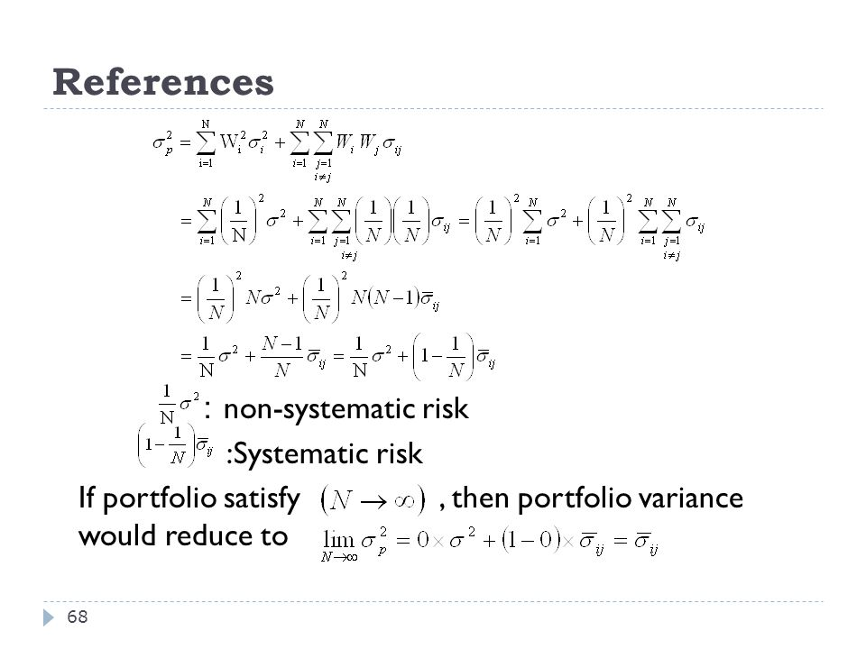 References :non-systematic risk :Systematic risk