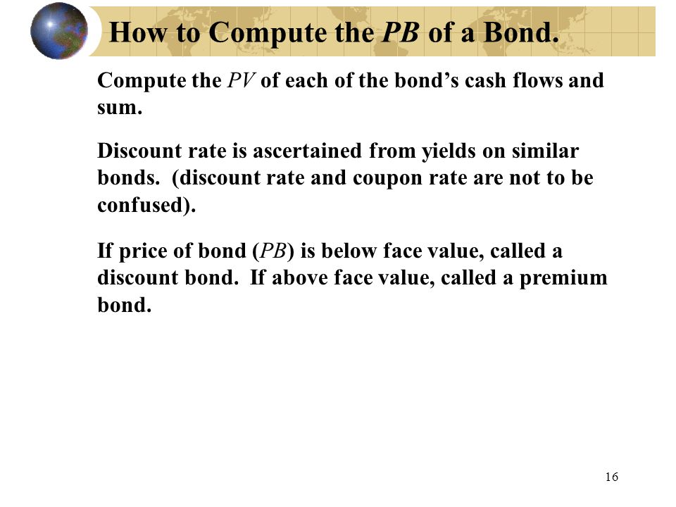 How to Compute the PB of a Bond.