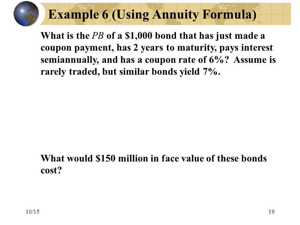 Example 6 (Using Annuity Formula)