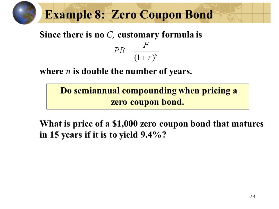 Example 8: Zero Coupon Bond