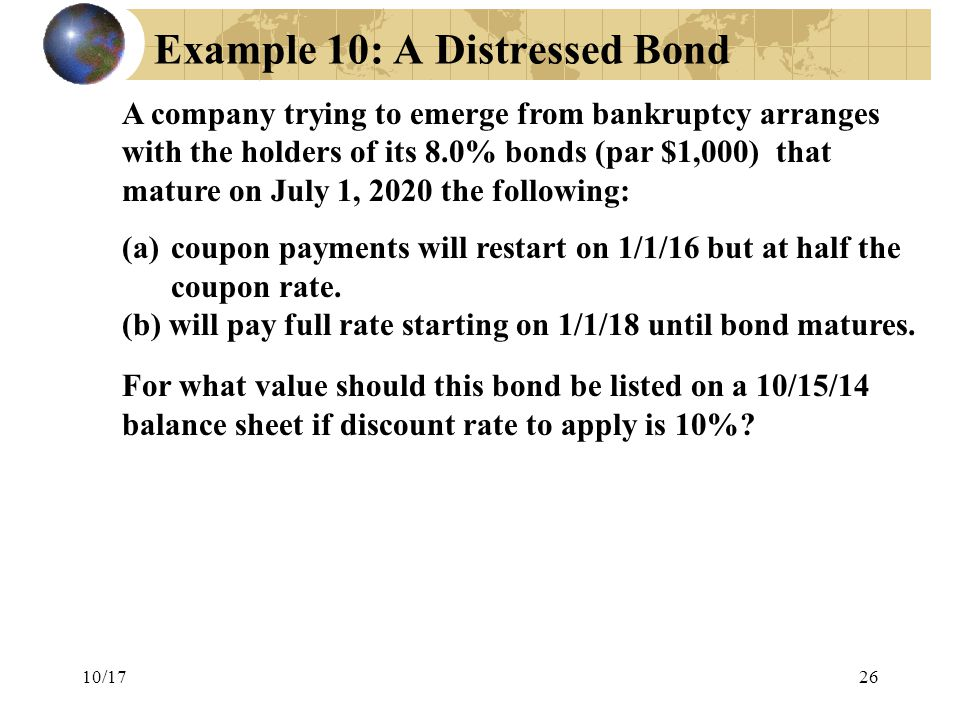 Example 10: A Distressed Bond