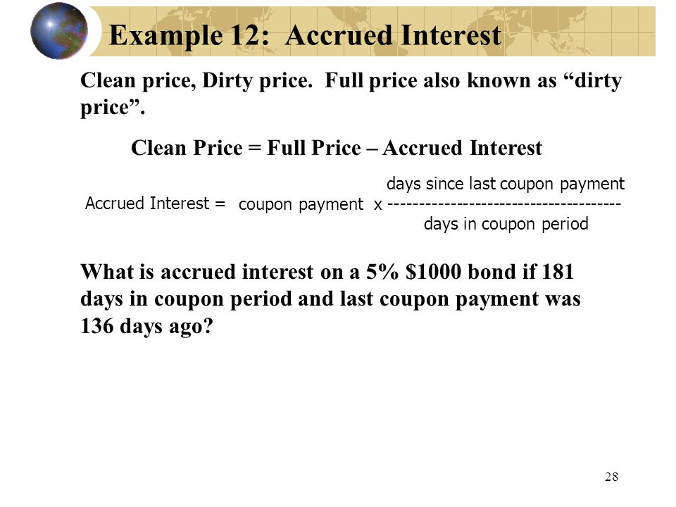 Example 12: Accrued Interest