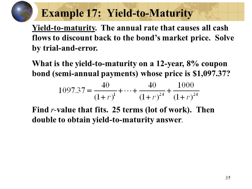 Example 17: Yield-to-Maturity