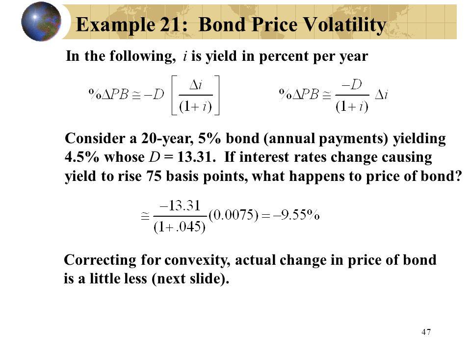 Example 21: Bond Price Volatility