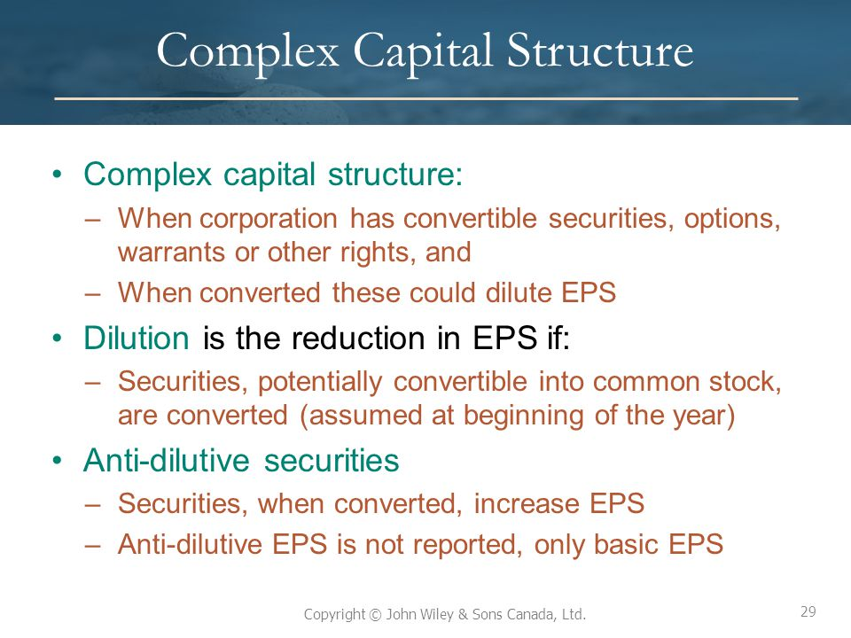 Complex Capital Structure