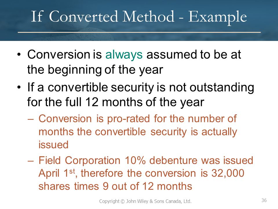 If Converted Method - Example