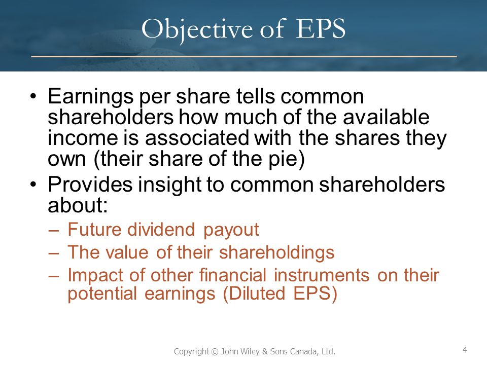 Objective of EPS