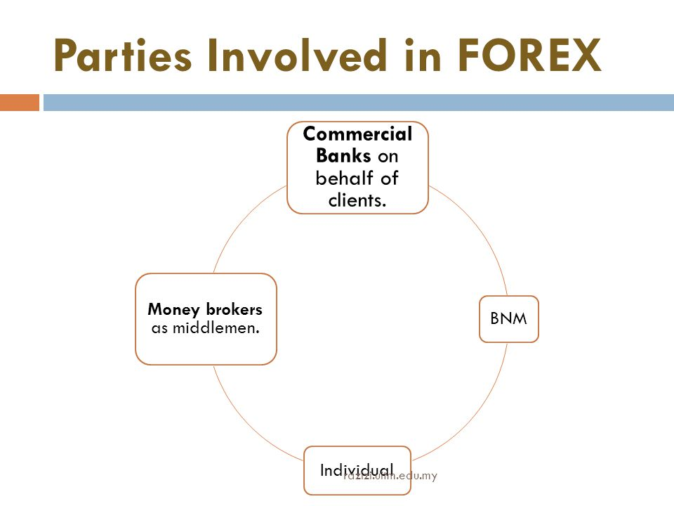 Parties Involved in FOREX