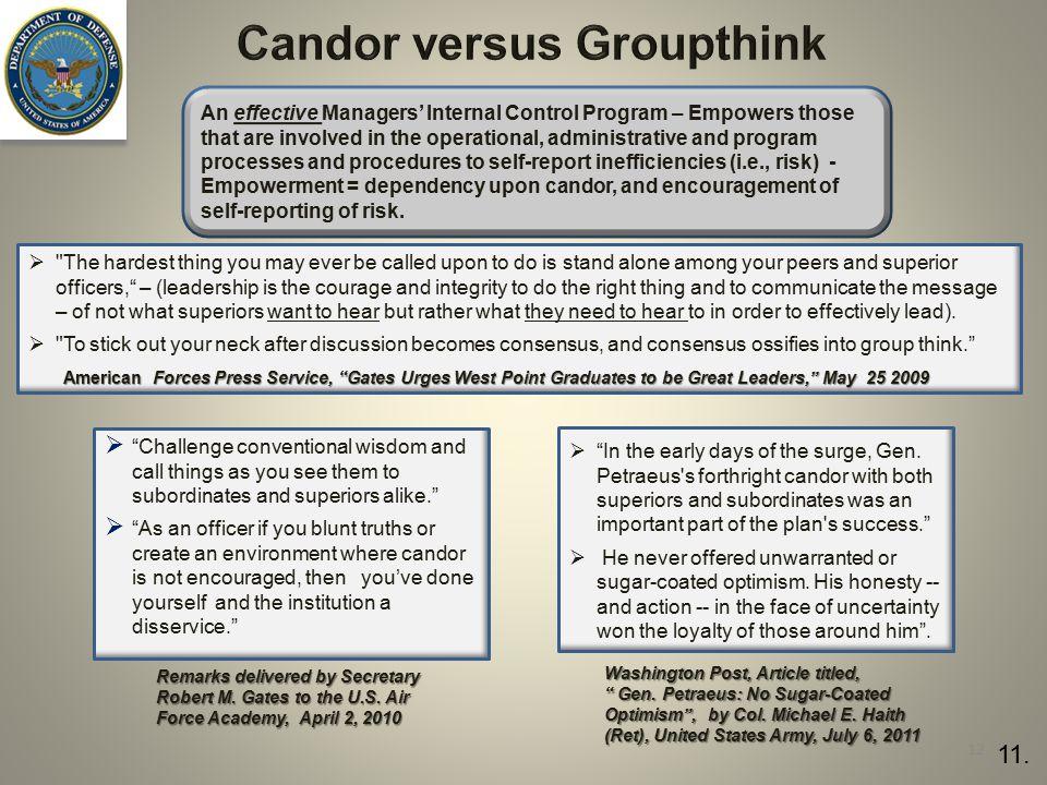 Candor versus Groupthink