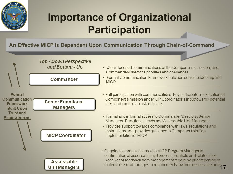 Importance of Organizational Participation