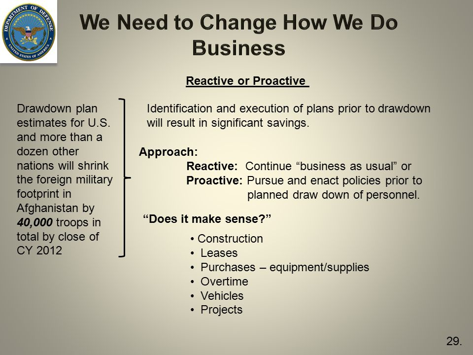 We Need to Change How We Do Business