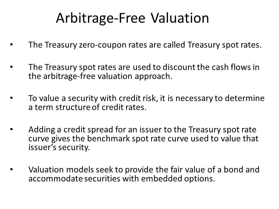Arbitrage-Free Valuation