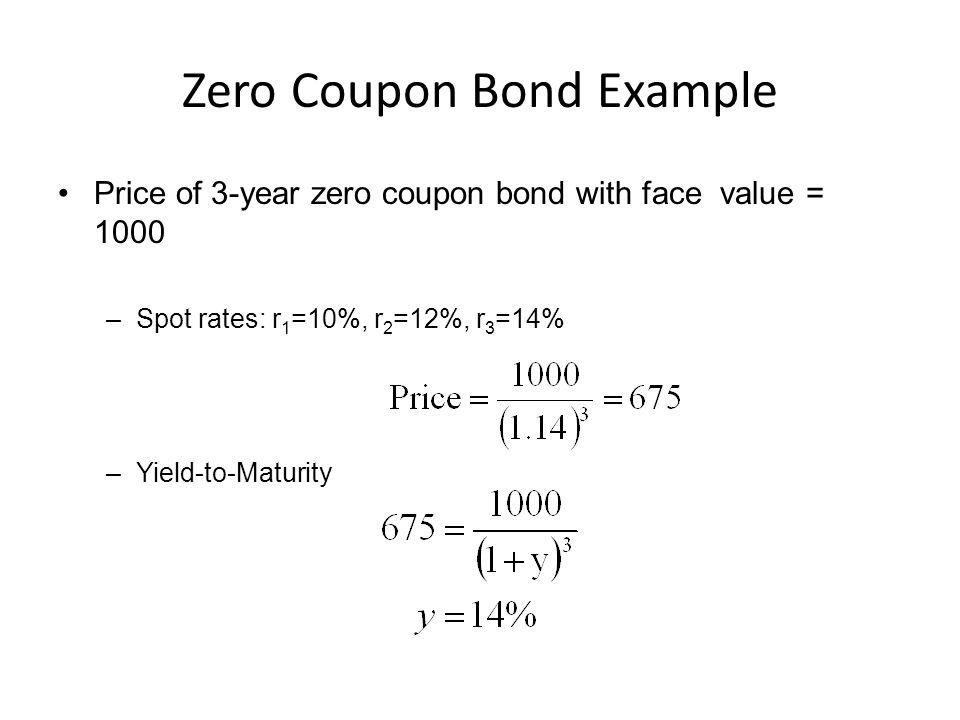 Zero Coupon Bond Example