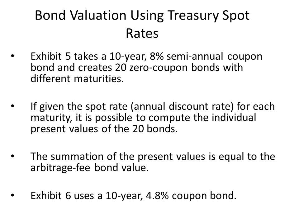 Bond Valuation Using Treasury Spot Rates
