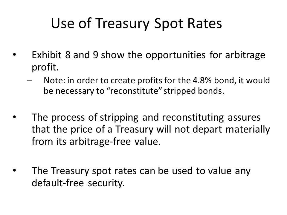 Use of Treasury Spot Rates