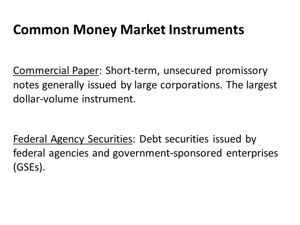 Common Money Market Instruments