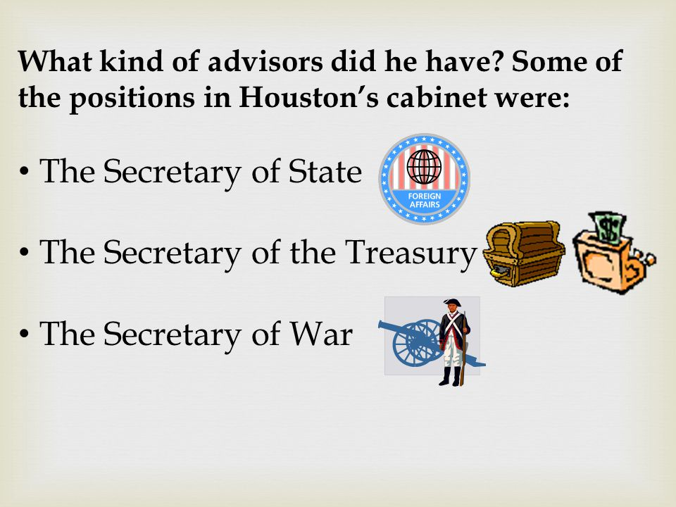 The Secretary of the Treasury The Secretary of War