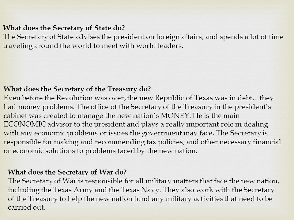 What does the Secretary of State do