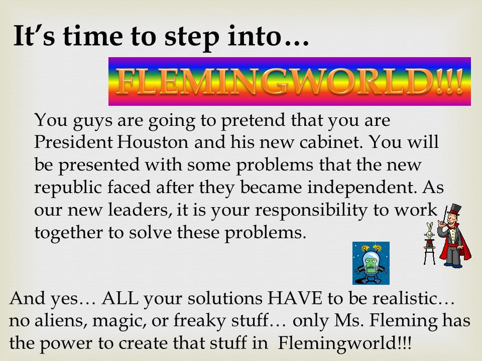 FLEMINGWORLD!!! It's time to step into…