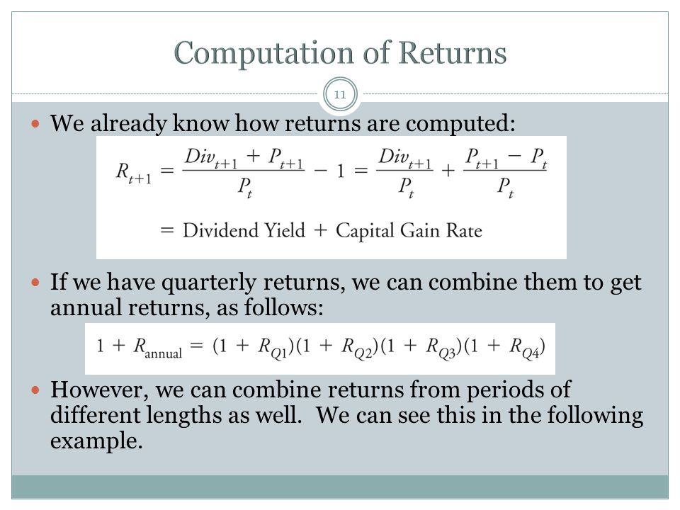 Computation of Returns