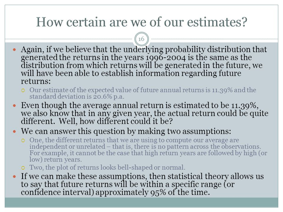 How certain are we of our estimates