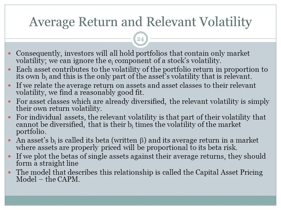 Average Return and Relevant Volatility