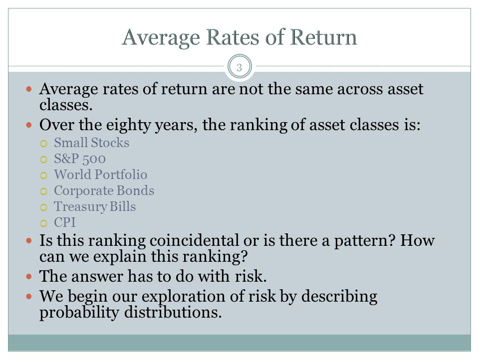 Average Rates of Return