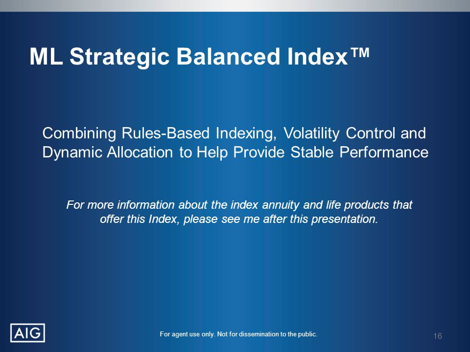 ML Strategic Balanced Index™